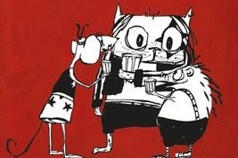 Bilete viser omslaget til boka Heavykatten, Discodansemusa og Pinnsvinet Phillip av Roald Kaldestad.